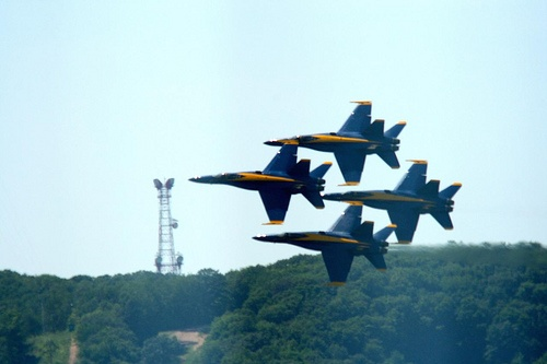 Blue Angels at the National Cherry Festival in Traverse City.
