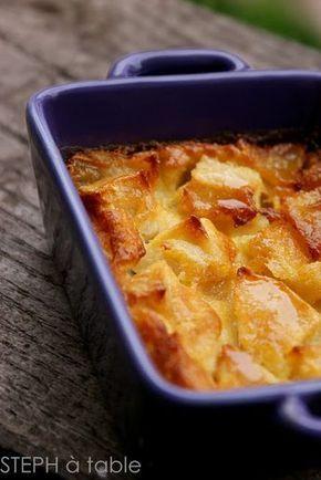 Recette dessert clafoutis pommes & caramel au beurre salé   Stephatable