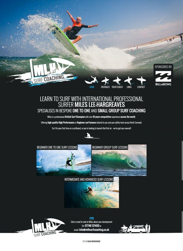 Website Design for International Surfer in Cornwall