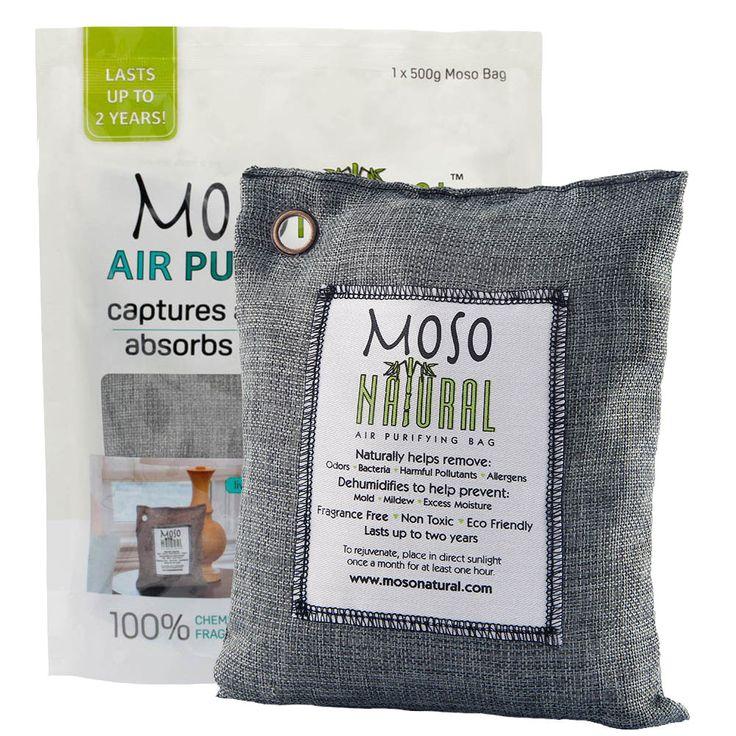 MOSO NATURAL Air Purifying Bag 500g Bamboo Charcoal Air