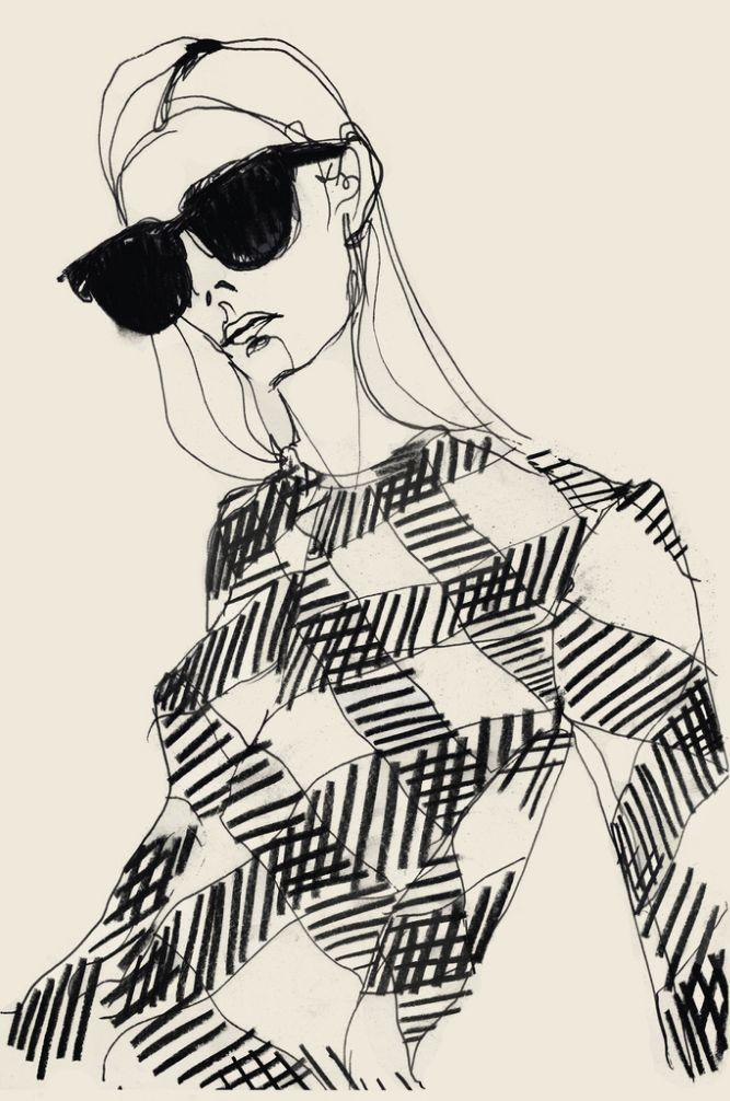 Rosie McGuinness (London-based), ca. 2016, Fashion Illustration.