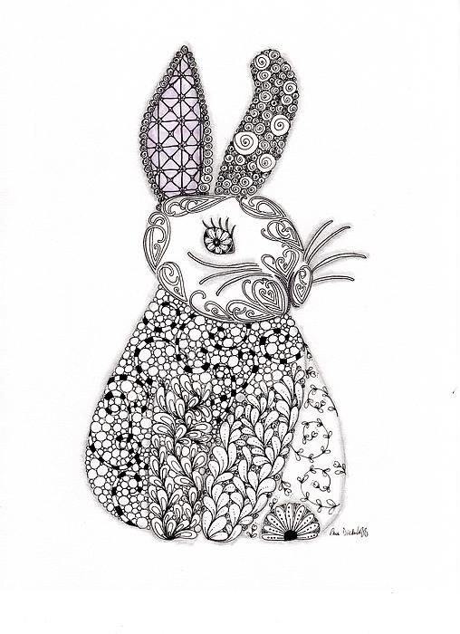 27 best images about lapins rabbits on pinterest lino - Mandala lapin ...