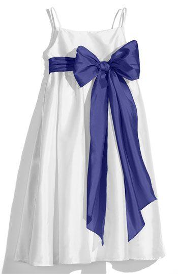 Us Angels White Sleeveless Empire Waist Taffeta Dress (Toddler, Little Girls & Big Girls) available at Nordstrom