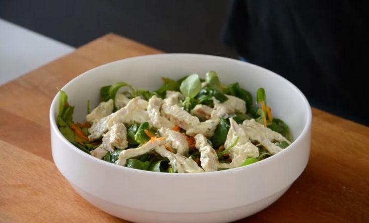 Салат с макаронами