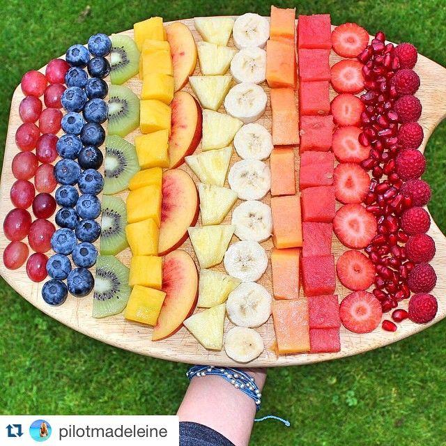 Eat the Rainbow   - Grapes, Blueberry, Kiwi, Peach, Pineapple, Appricot, Mango, Banana, Watermelon, Melon, Strawberry, Cherry, Raspberry