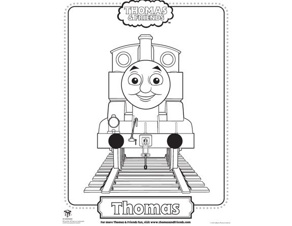 Thomas The Train Coloring Sheet