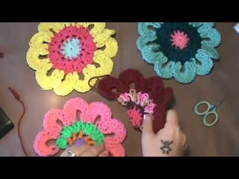Flower Crochet Pattern Youtube Choice Image Knitting Patterns Free