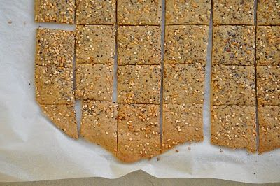 Gluten free and vegan quinoa seed crackers. I haven't made these yet. I will probably sub some of the sorghum flour with chickpea flour. Maybe some buckwheat too.