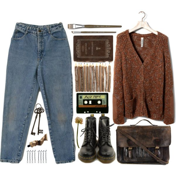 90s by hiddlescat on Polyvore featuring Pull&Bear, Dr. Martens, Priestley's Vintage, BOBBY, Aesop, Monza and INDIE HAIR