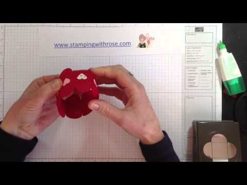 Circle box using the Petal card Double Punch