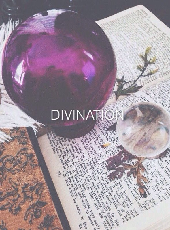 Divination: the practice of seeking knowledge of the future or the unknown by supernatural means.