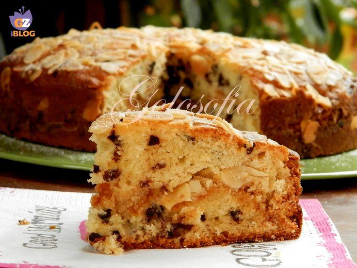 Torta di ricotta con amaretti e cioccolato-ricetta torte-golosofia