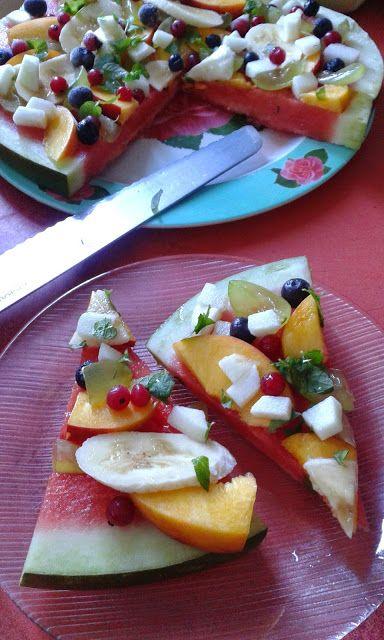 Dinnye-pizza, avagy gyümölcssaláta kicsit másképp
