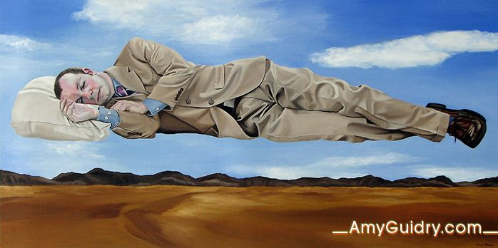"""Complacent - Acrylic on Canvas - 48"""" x 24"""""""