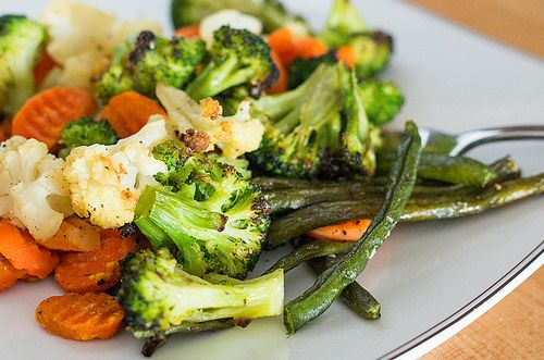 Side Dish: Roasted Frozen Vegetables  Roast 'em from frozen - minimal prep time, 40 minutes in the oven mostly unattended. Way better than boiled or steamed!