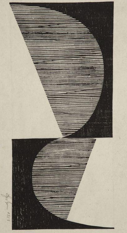 Untitled (1958) by Brazilian artist Lygia Pape (1927-2004).