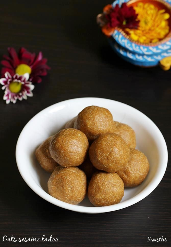 oats sesame ladoo recipe or oats peanut laddu – Healthy ladoo that go well in the snack box or as after school or evening snack. If you have a family member who do not like to eat oats, then this is a must try recipe. They taste very delicious with a great aroma of roasted …