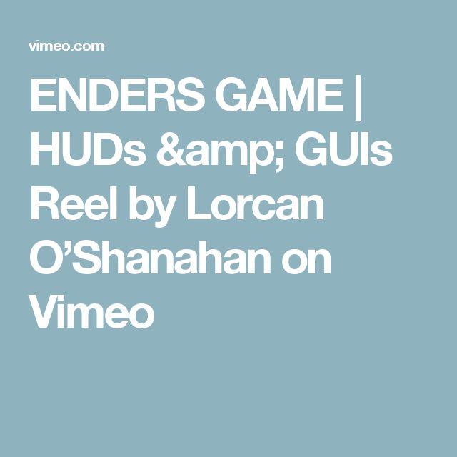 ENDERS GAME | HUDs & GUIs Reel by Lorcan O'Shanahan on Vimeo