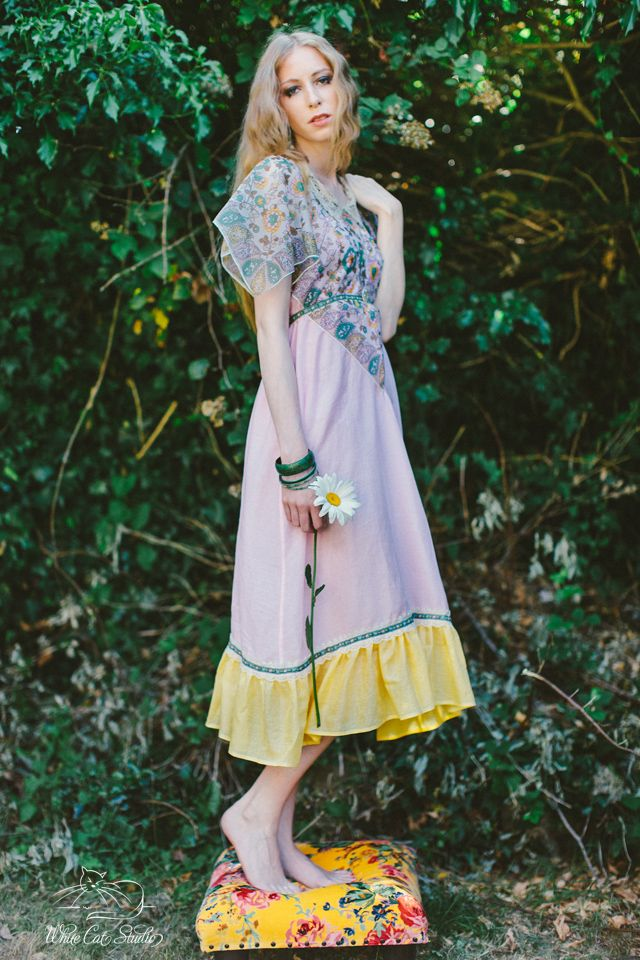 Alice Halliday 'Battenberg Dress' size 8-10 €180 from Brocade & Lime boutique | Modeled by Jean W-Model | Photographed by White Cat Studio | Hair & makeup by Rosa O