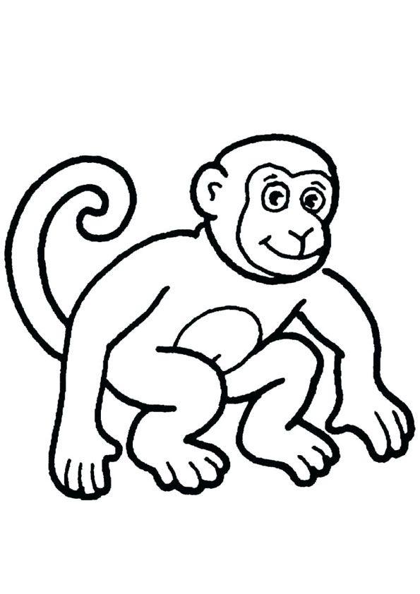 Cute Monkey Coloring Page Monkey Coloring Pages Cute Coloring Pages Coloring Pages