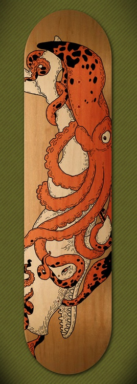 Skateboard design by Vaclav Bicha.  http://www.behance.net/ondanana
