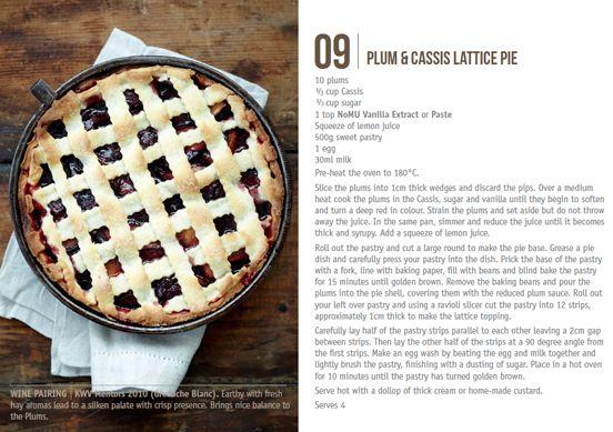Nomu Recipe Cards Plum & Cassis Lattice Pie