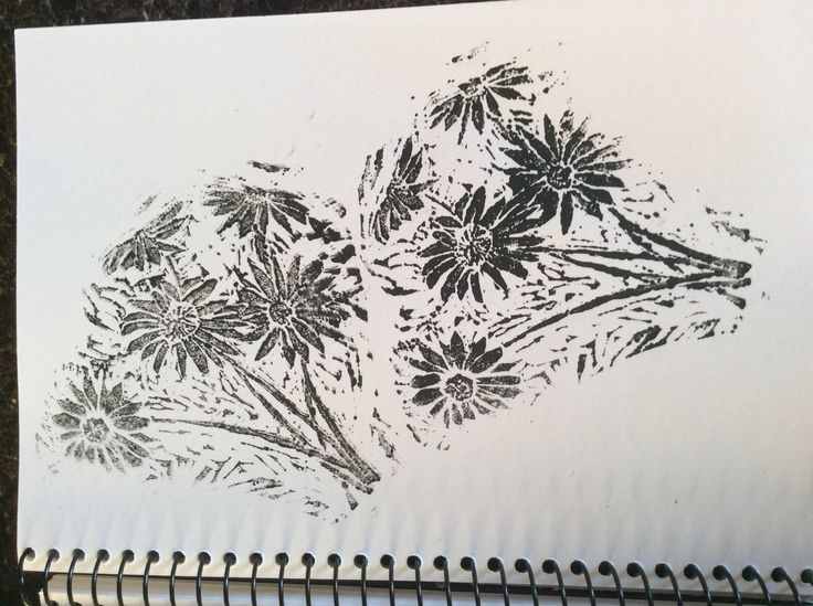 Gerberas #1 - quick practice print