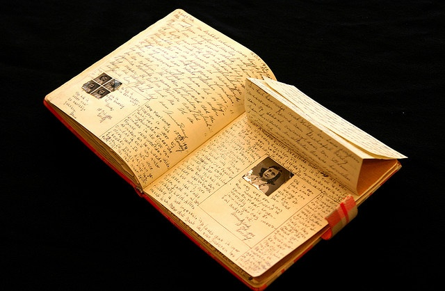 Anne Frank's diary. I WOULD LOVE TO HAVE THIS! Or even see it in person!