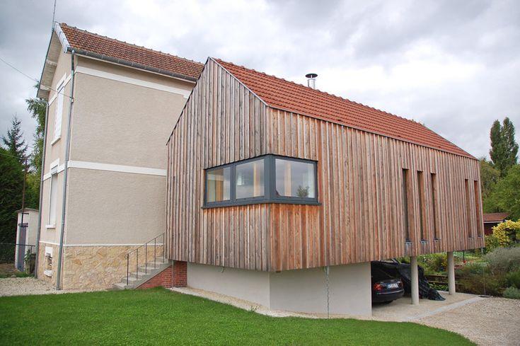 Extension D 39 Une Maison D 39 Habitation Angle Vitr De La
