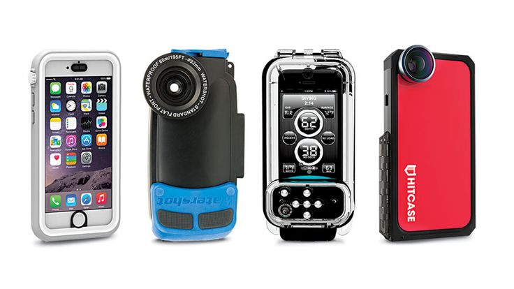 The best waterproof iPhone cases for underwater photography for the iPhone 5 and 6, from cases that can reach 200 feet to 30 feet.