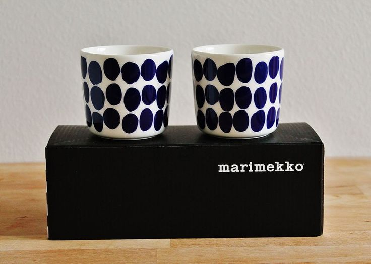 Marimekko Blue Koppelo cup set 0,2l by Maija Isola, made only for Finnair