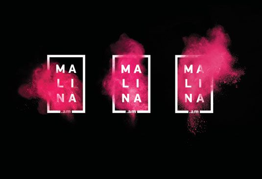 Mixing strong typography and an explosion of colour, this new identity for Russian TV channel Malina.Am is branding at its best.