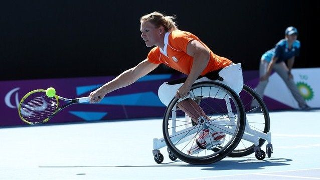 Wheelchair Tennis - Paralympic Sports. >>> See it. Believe it. Do it. Watch thousands of SCI videos at SPINALpedia.com