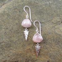 Rose Quartz Earrings 740016