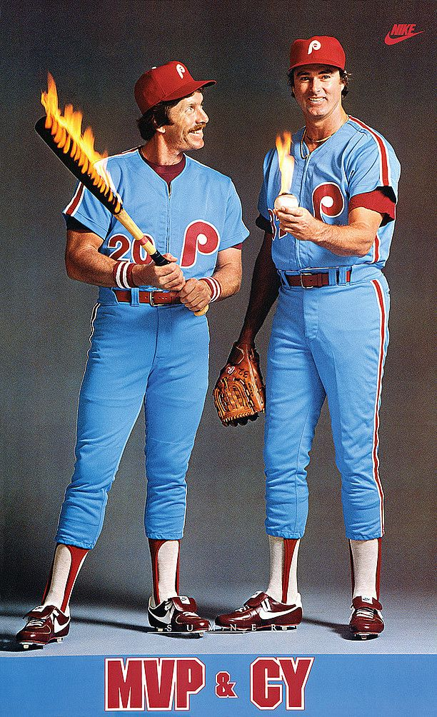 Mike Schmidt & Steve Carlton. I had this poster on my wall when I was a kid.