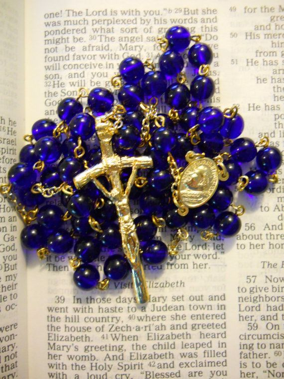 Blessed Pope John Paul II Rosary by HillairCreations on Etsy, $35.00