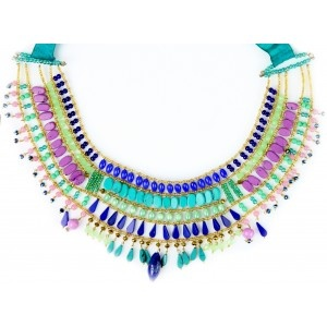 Mirage - This fun and creative necklace features hundreds of varying beads in stunning marine colours. Perfect for weekend celebrations, or adding a little festive fun to your everyday wear