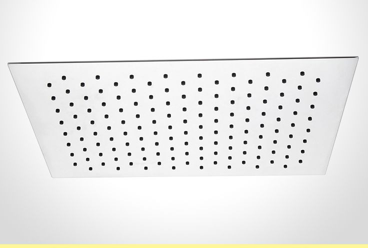 Rococo highly polished 304 grade stainless steel 400mm square rain shower head
