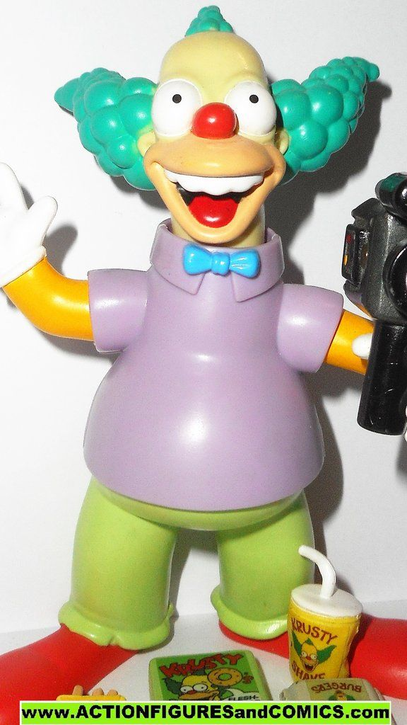 Simpsons Krusty The Clown Playmates Toys Series 1 2000 Complete