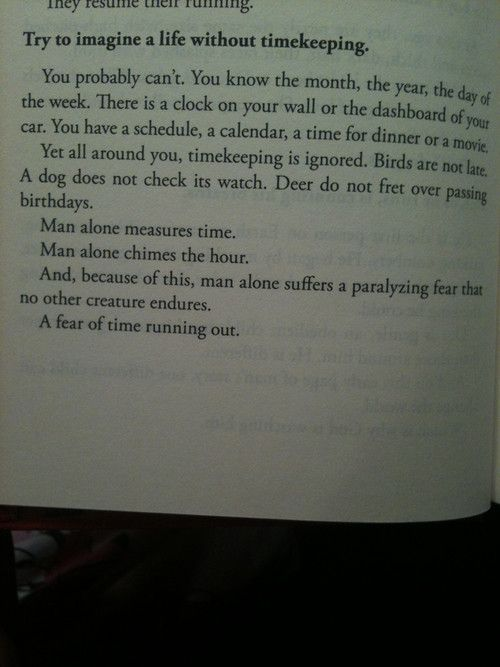 """Mitch Albom's """"The Timekeeper""""--I loved this quote when I read it, and I was so happy to find it here."""