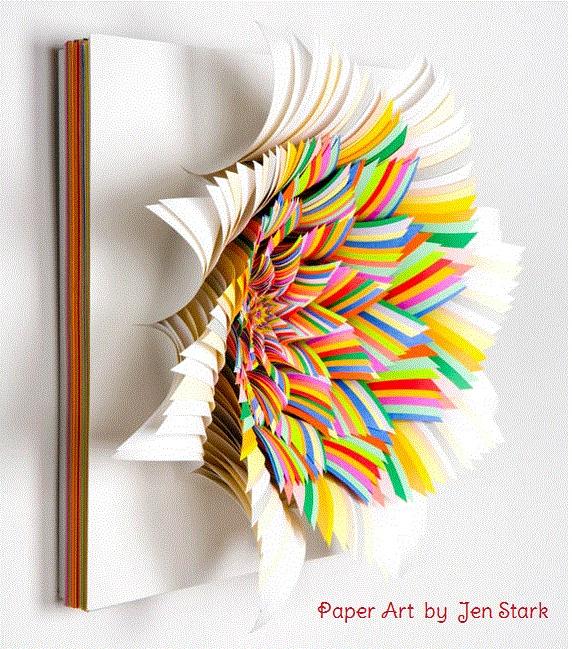 *: Colors Paper, Jenstark, Paper Art, Paper Sculpture, Paper Flowers, Paperart, Cut Paper, Paper Wall, A Stark