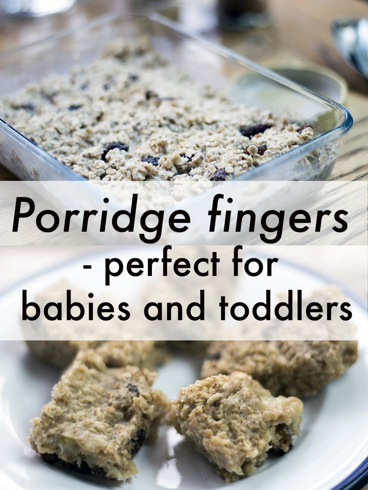 Porridge Fingers - perfect breakfast idea for babies and toddlers - baby led weaning / blw