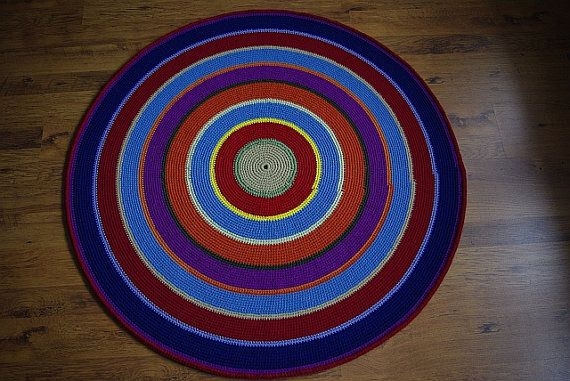 Crochet round rug 55'' 140 cm Made to order by AnuszkaDesign, $145.00