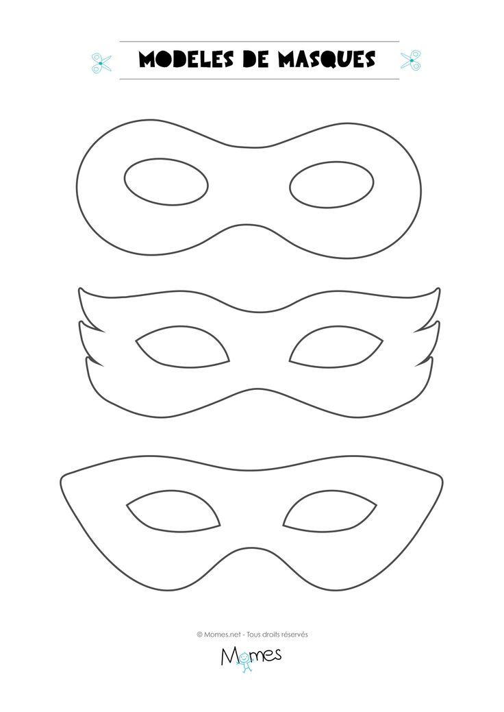 gabarit masque carnaval