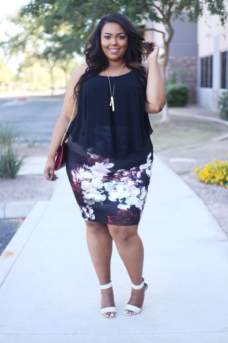 Plus size floral mini. For more inbetweenie and plus size style inspiration, go to www.dressingup.co.nz.