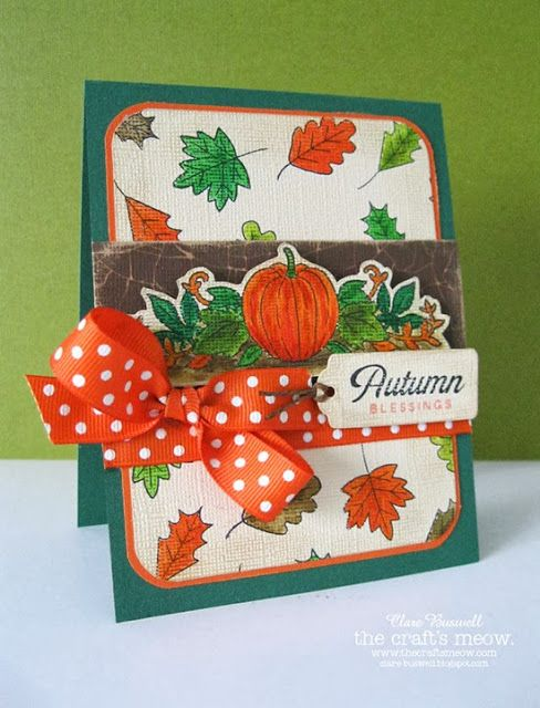 The Craft's Meow Store Blog: Autumn Blessings also used Speaking of Fall