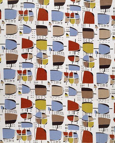Furnishing fabric, by Jacqueline Groag. Rawtenstall, England, 1952