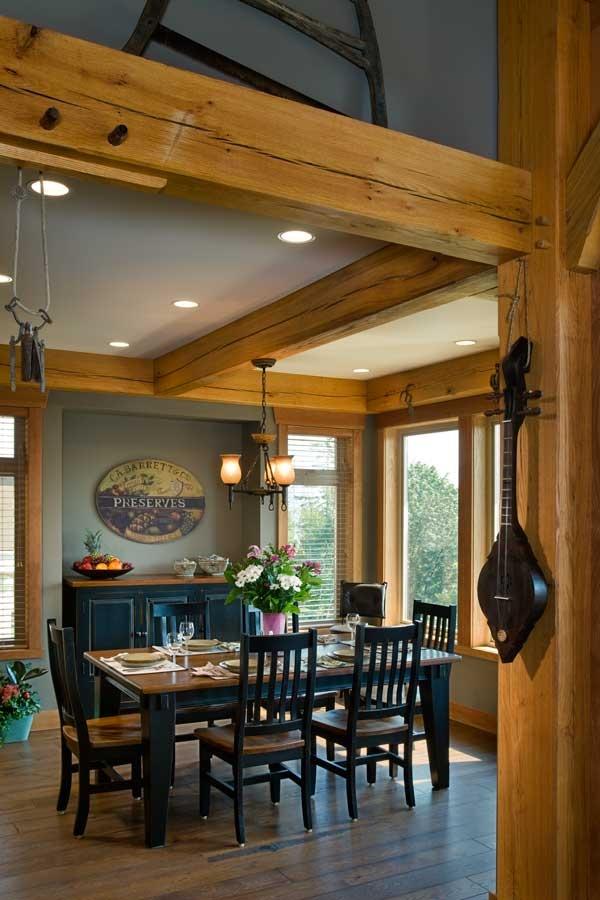 Compact Hybrid Timber Frame Home Design Photos Timber Home Living