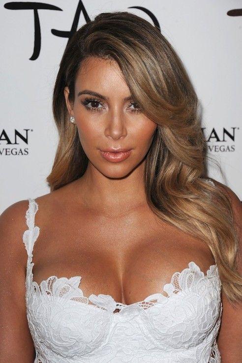 kim kardashian blonde highlights ombre long hair don