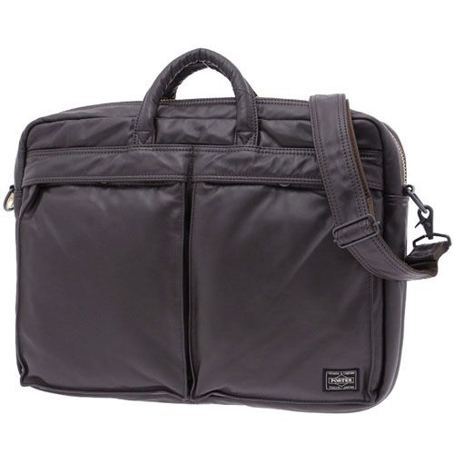 Porter Tanker Leather 2Way Brief Case. Product No: 383-04889. Size: W410/H300/D70. Outside: Cow steerhide leather (chrome tanned)/Inside: Nylon taffeta. Available in Black, Brown.